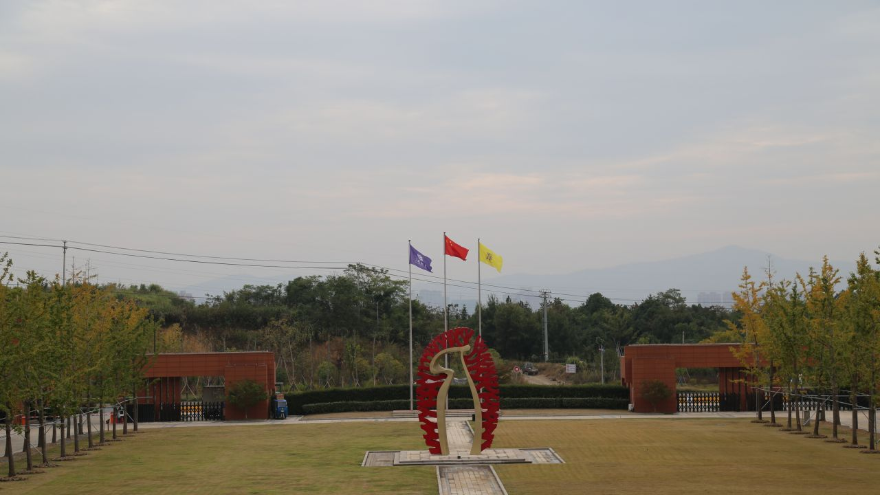The view from Hailiang Education Park to the school's entrance.