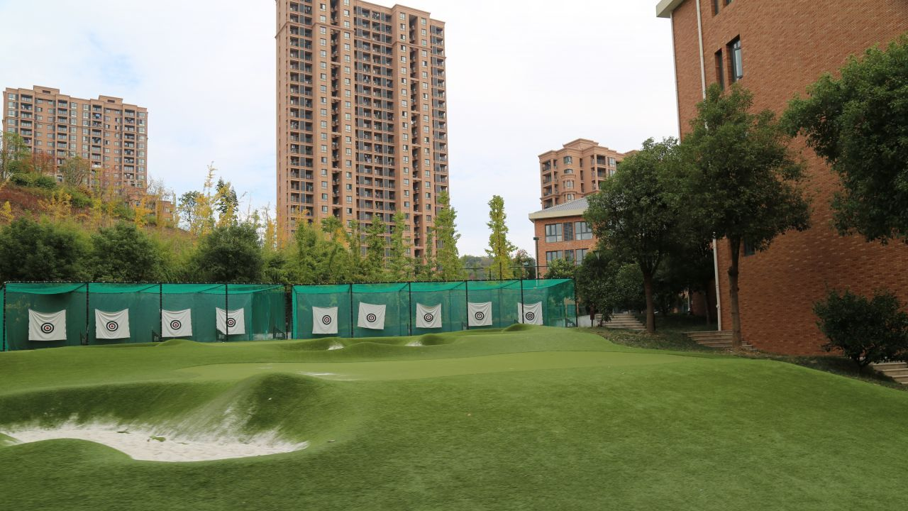 An archery range and putting green for budding golf enthusiasts.