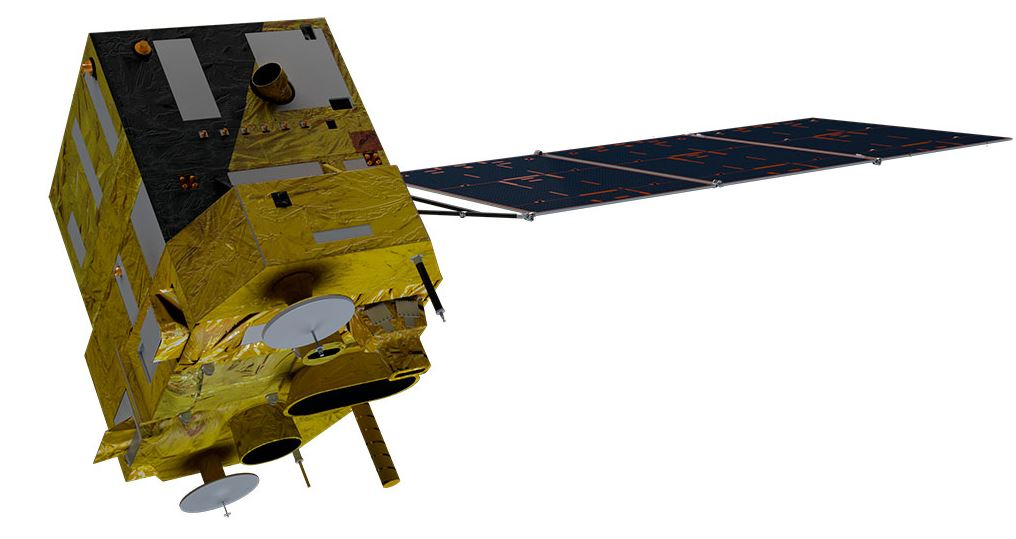 A render of the CBERS-4 satellite.