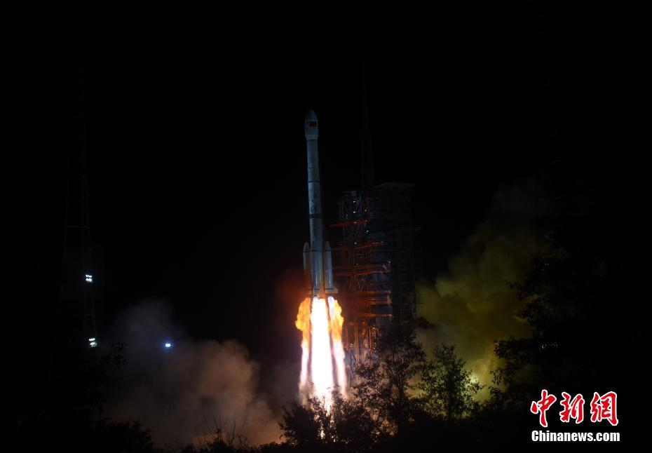 Launch of the Chang'e-4 mission from Xichang at 18:23 UTC December 7, 2018.