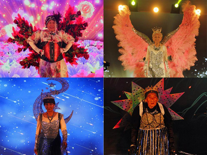 Elderly grandmothers star in fashion show hosted by Chinese longevity city