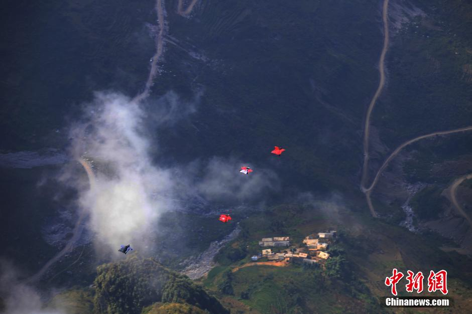 LED night flight among events at wingsuit championship in China