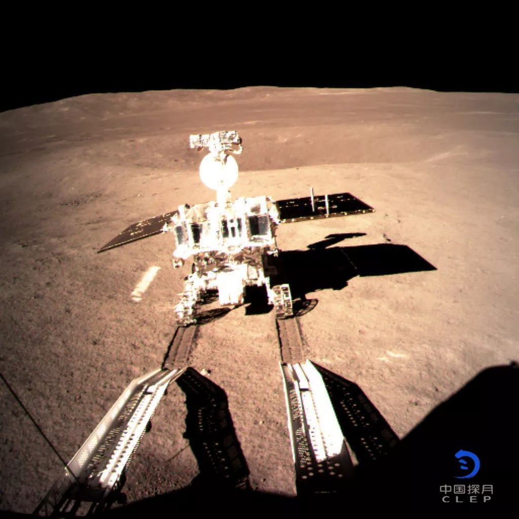 The Chang'e-4 'Yutu 2' rover was deployed on the lunar surface at 14:22 UTC, December 3, 2018.