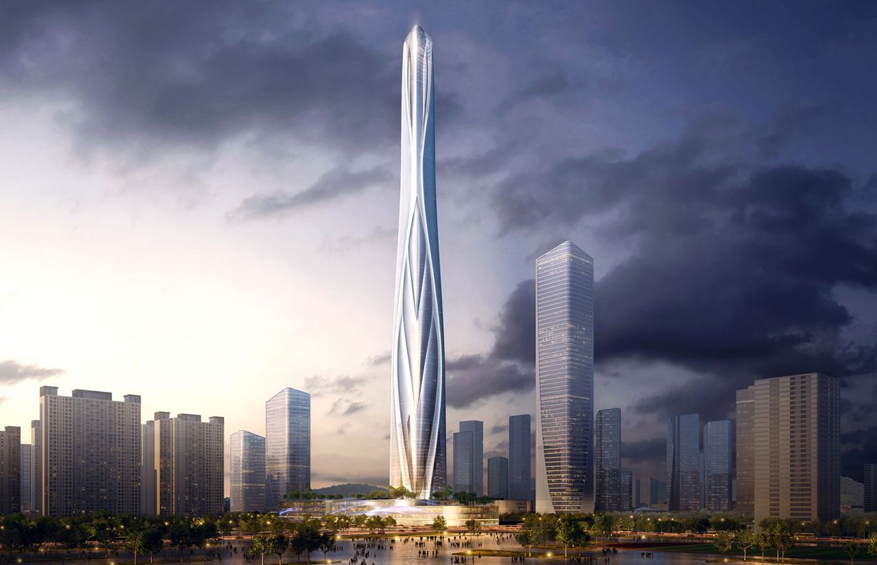 Tallest building design unveiled for south China