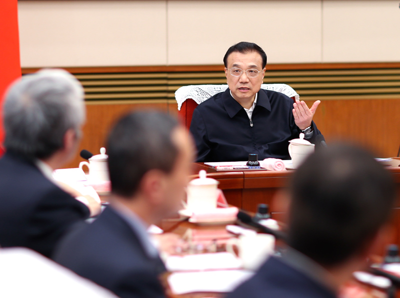 Chinese premier discusses measures to boost economy amid downward pressure