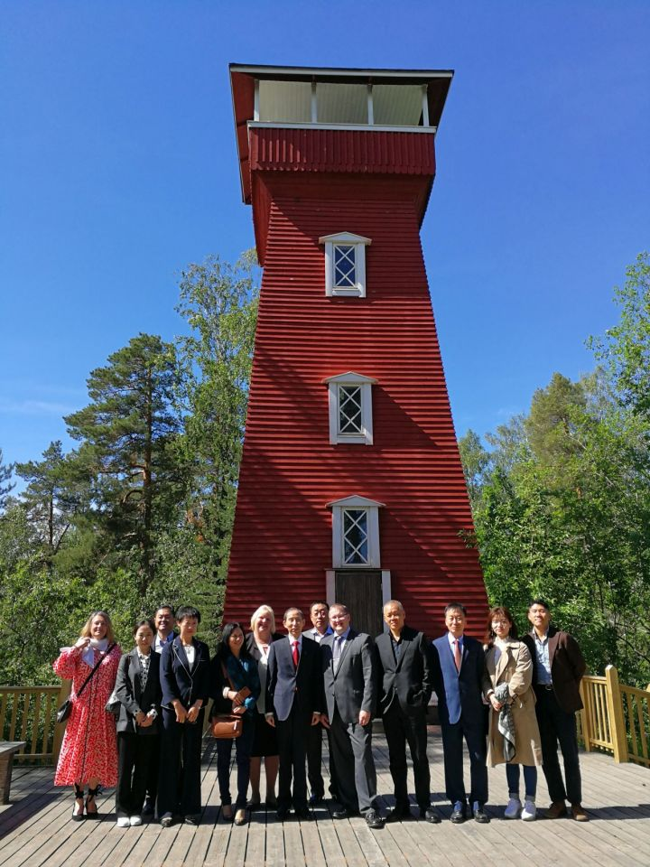 A CICCC delegation visited finland in June to meet with Kangasala mayor and local business representatives.