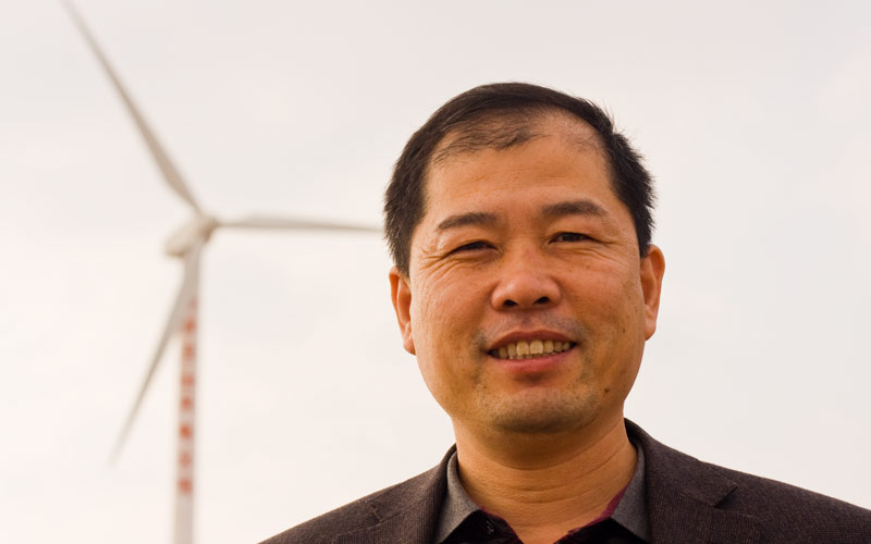 Xiao Guo-Ping, a manager with China's Ningxia Power Energy Group.