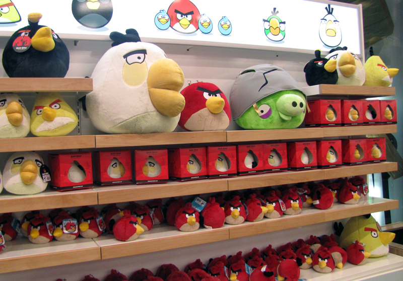 The Helsinki-based shop offers a multitude of merchandise choice, from Angry Birds plush toys of different sizes to refrigerator magnets where you can let your creativity reign and make your own 'real life' game levels.