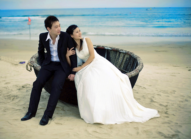 In China, taking wedding photographs is often even more important than the ceremony itself.