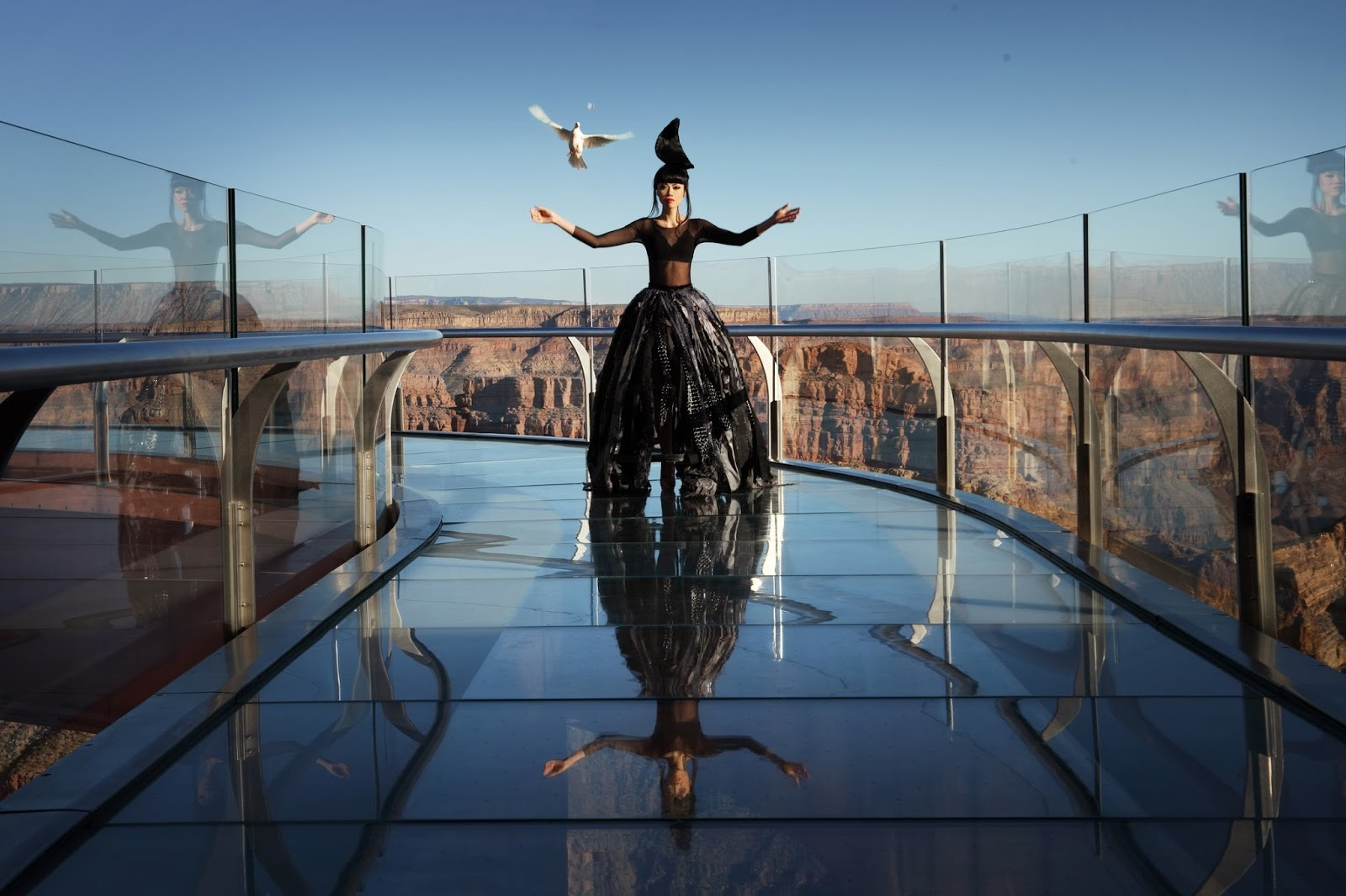 World's highest fashion show with a pinch of adrenaline
