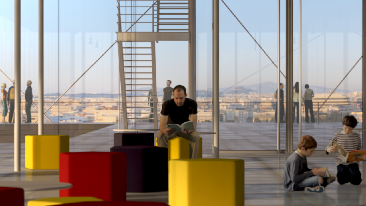 The library will offer great views over the city and the sea.