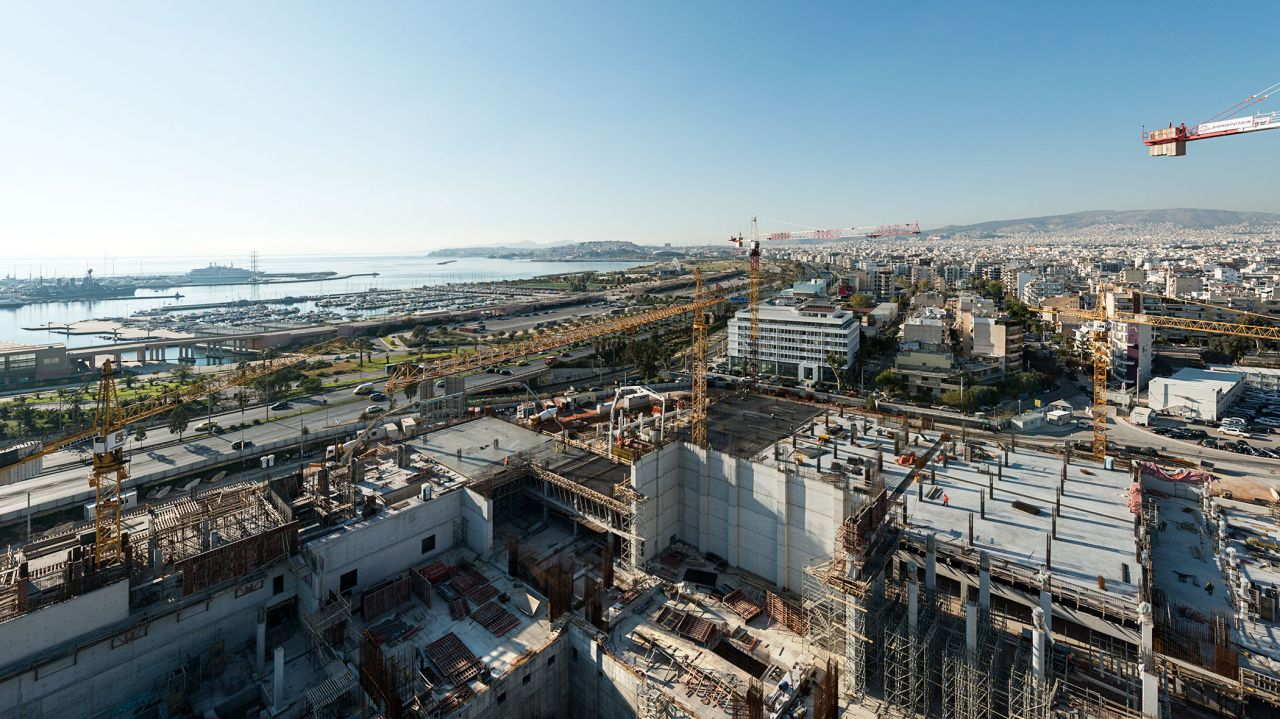 The artificial hill will offer a breathtaking view over Faliro bay.