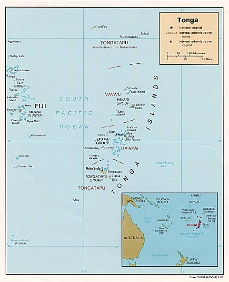 Of over 170 islands in Tonga only about 40 are inhabited.