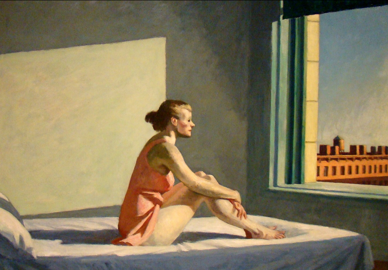 Edward Hopper's Morning Sun from 1952 is one of the paintings reconstructed in Gustav Deutsch's film.