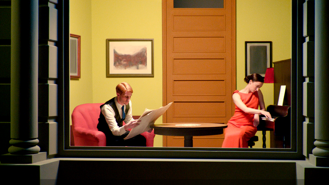 Edward Hopper's Room in New York reconstructed in Shirley - Visions of Reality.