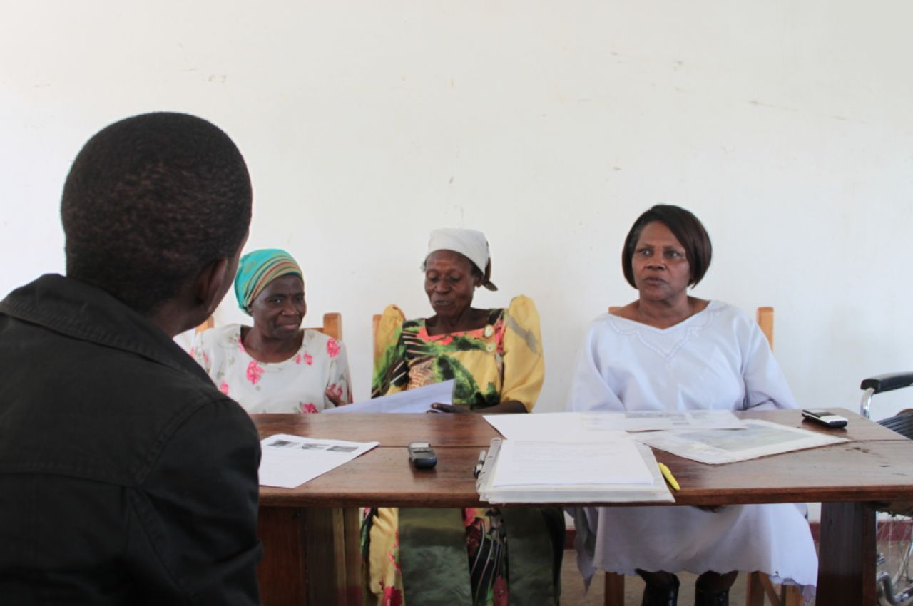 Leah Chung met with a lot of people from Ugandan NGOs. Here, it's the Uganda Women's Association in Kampala.