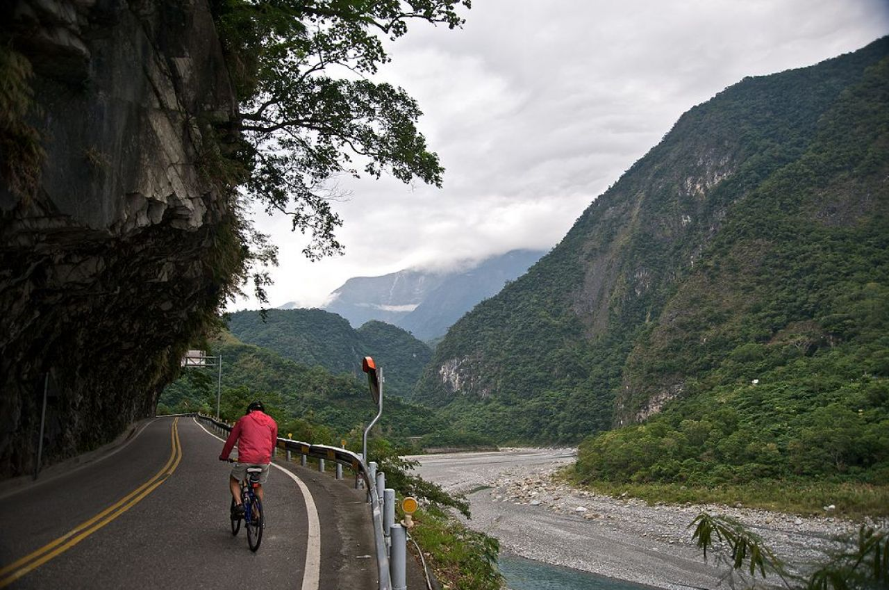 Taroko Gorge offers great cycling routes.