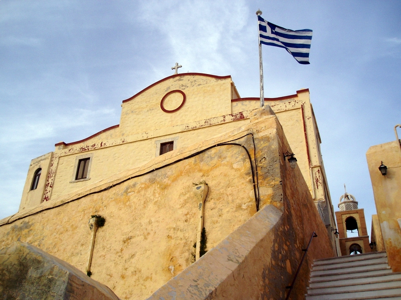 Reaching St George Cathedral at the top of one of Ermoupoli's hills is a must when in Syros