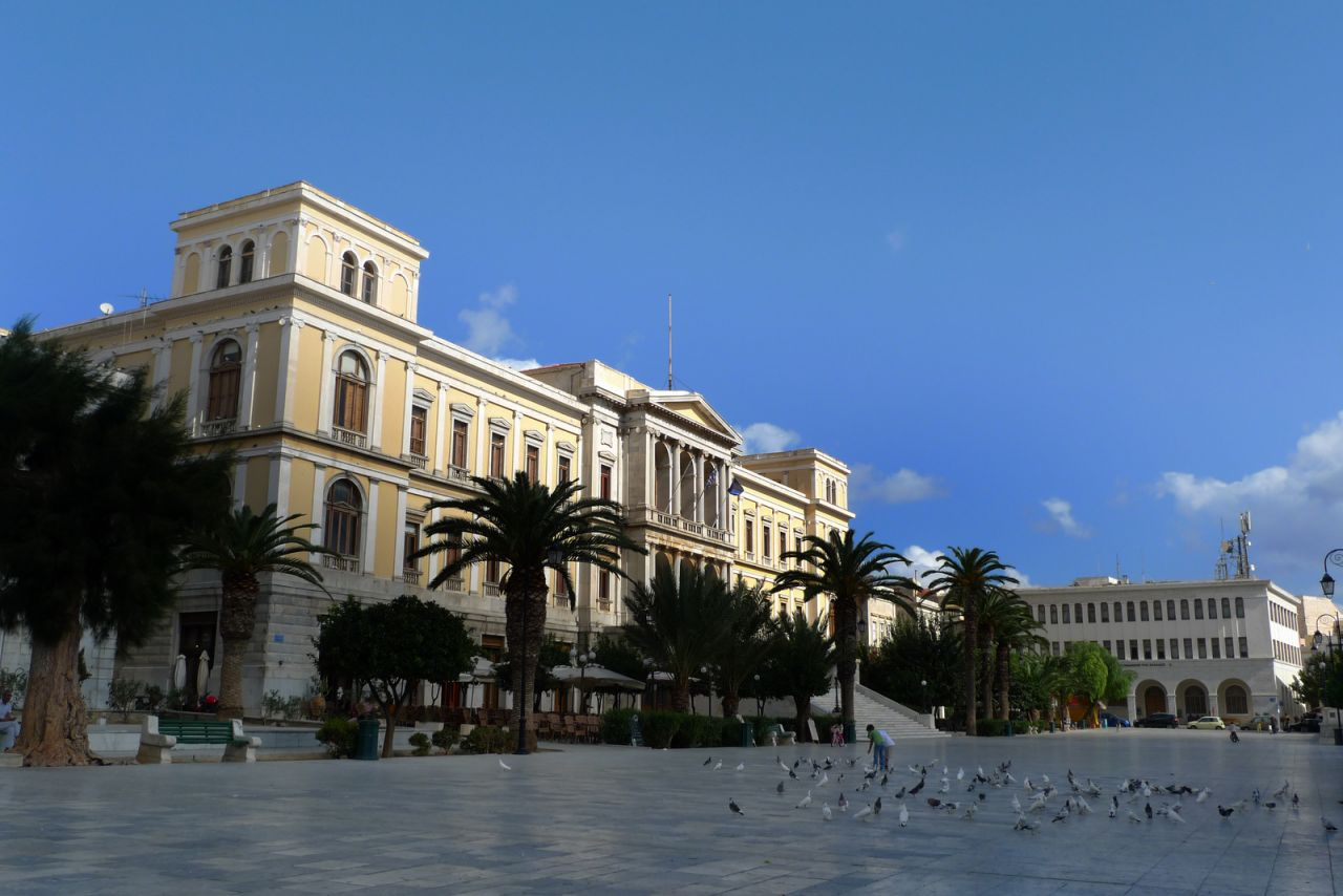The City Hall of Ermoupolis is Syros' gem building