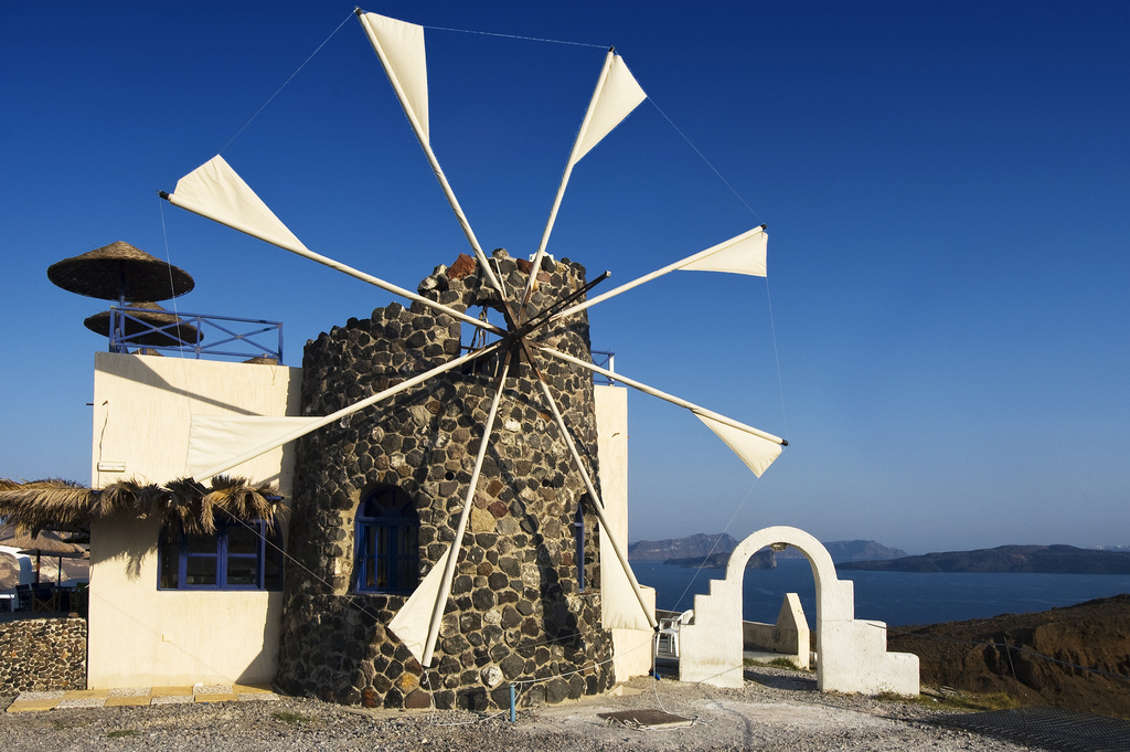 Windmills are Cyclades' landmark and they can also be found in Syros