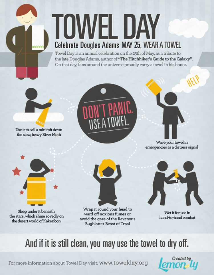 Don't panic, it's only Towel Day