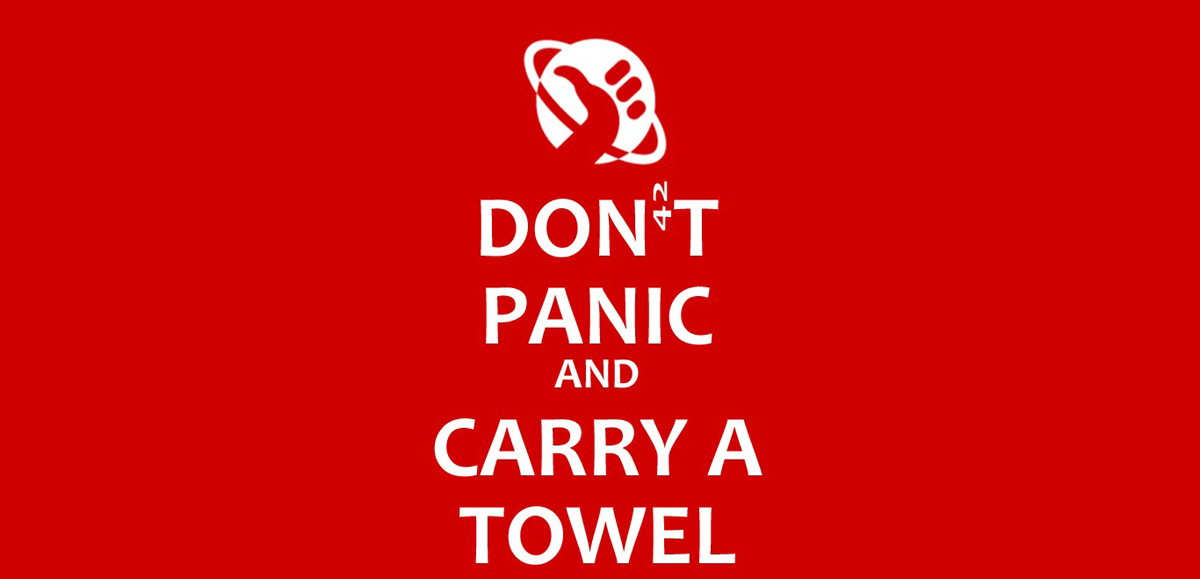 Grab a towel on May 25 and join in the fun of Towel Day.