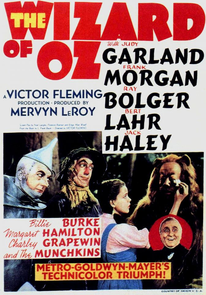 "It took 14 writers, five directors and a budget of US$2,777,000 to bring The Wizard of Oz to the screen for the first time. The film won two of its six Academy Awards: one for Best Original Song (""Over the Rainbow"") and the other for Best Original Score."