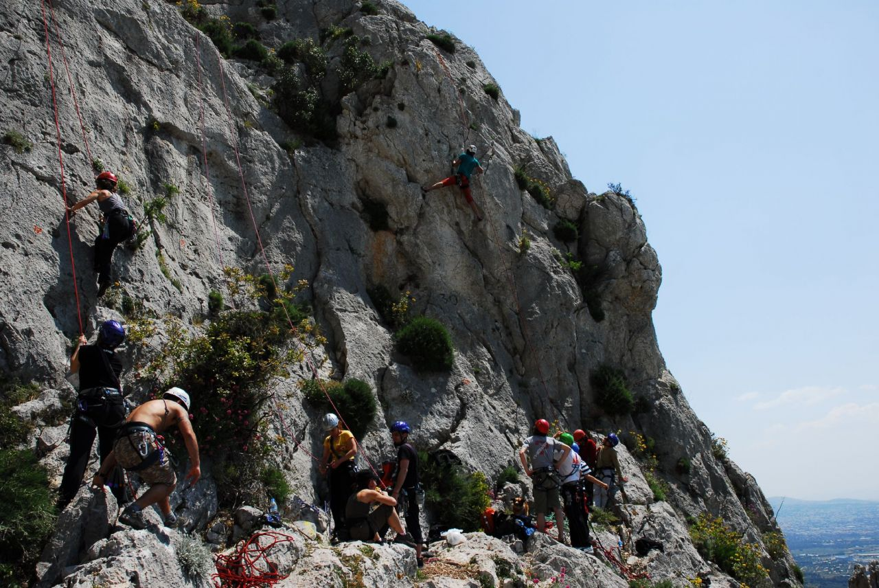 Parnitha is also an Athenian rock-climber's paradise with several Climbing Clubs organising day-trips to Parnitha's steep hills