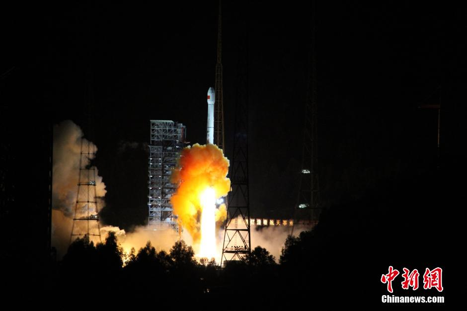 The Chang'e-5 T1 lunar return test flight lifting off from the Xichang Satellite Launch Center in Sichuan, at 0200 Beijing time on October 24, 2014
