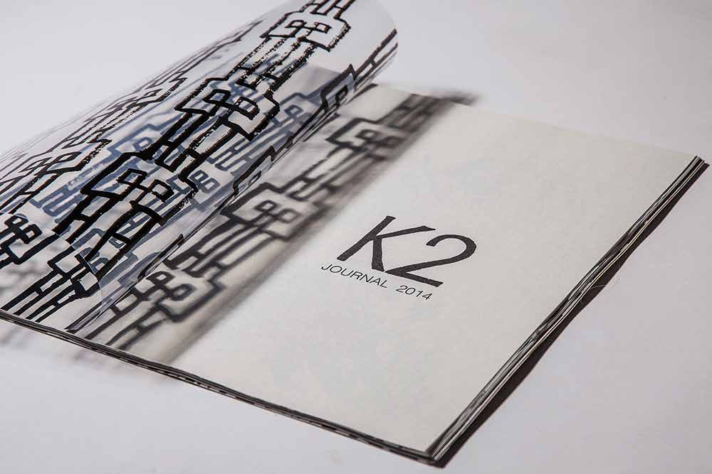 When the event company K2 moved into a 92 years old historical building in Shanghai, SHTYPE was asked to design new promotion material. The result was a journal painted with brush but with a contemporary expression.