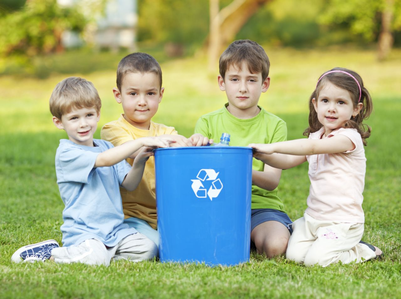 Teaching children to recycle, reduce and reuse