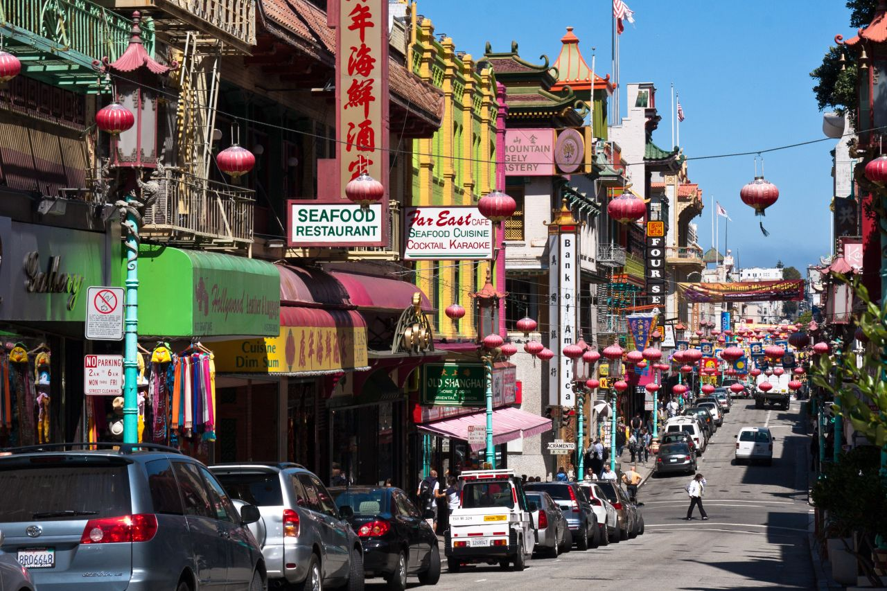 San Francisco's Chinatown is the largest Chinatown outside Asia.