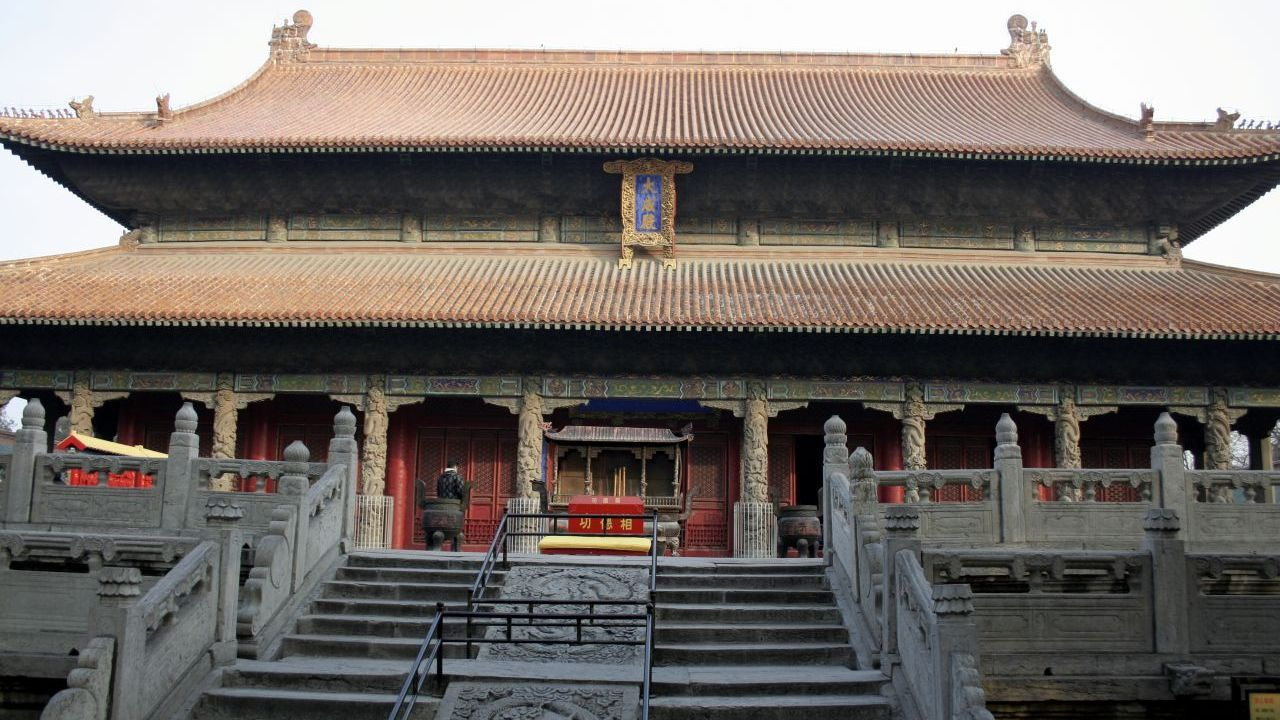 Dacheng Hall, front staircase,