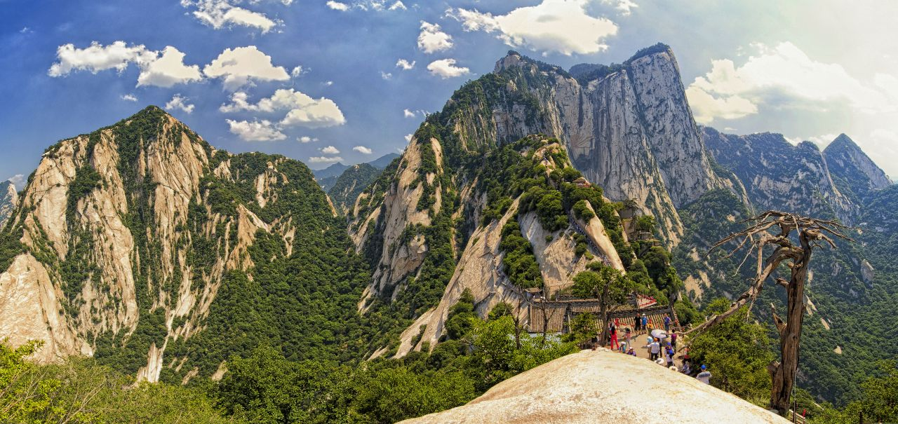 Mount Hua in Shaanxi Province.