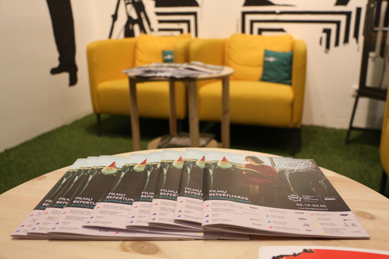 Festival visitors can choose which screenings to attend from the Vilnius International Film Festival program leaflets.