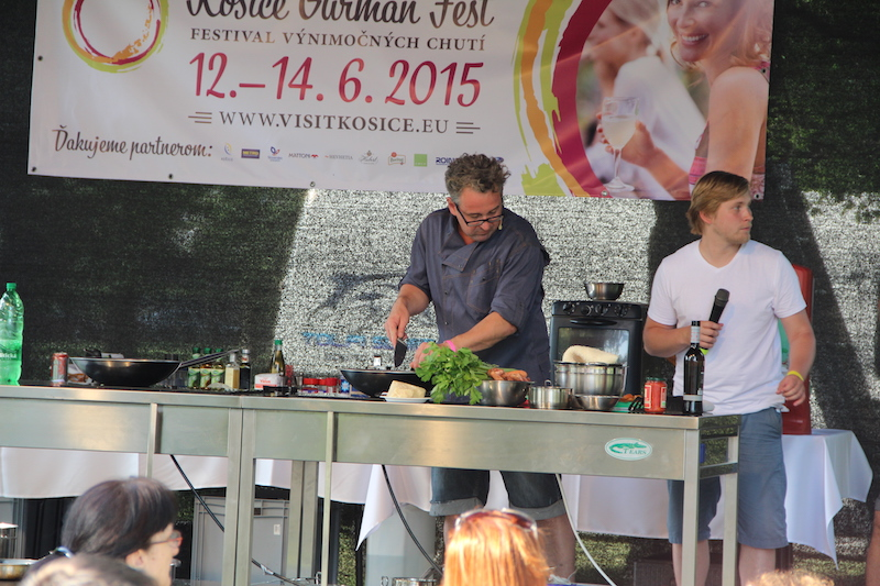 The main stage featured shows for children, as well cooking shows featuring the best chefs from Košice