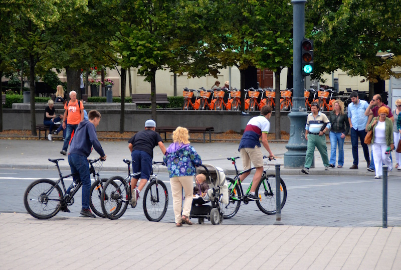 During the summer, Vilnius becomes a city of bikers
