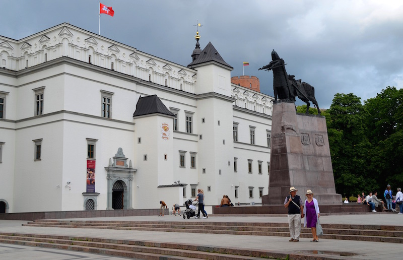 A view to the Palace of the Grand Dukes of Lithuania just before the summer rain starts