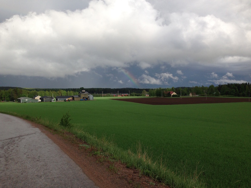 Summer showers consistently pop up throughout Finland - as do the resulting rainbows.
