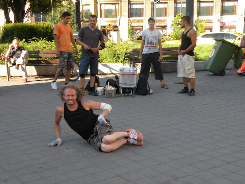 Music and Dancing is a common summertime sight on the streets of Budapest