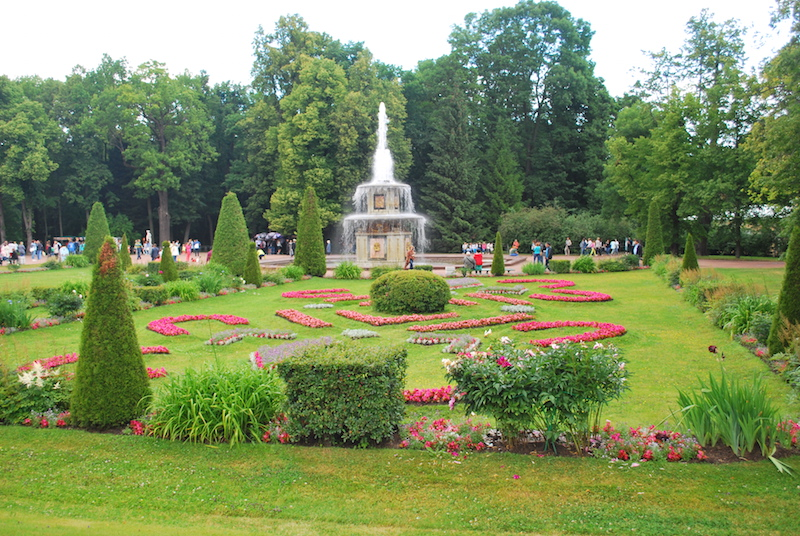 Summertime, when you enjoy the views of the imperial gardens of Peterhof near St. Petersburg