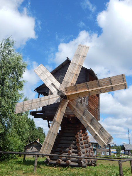 Open air museum Mandrogi, a traditional Russian village between lakes Ladoga and Onega in the North-West Russia