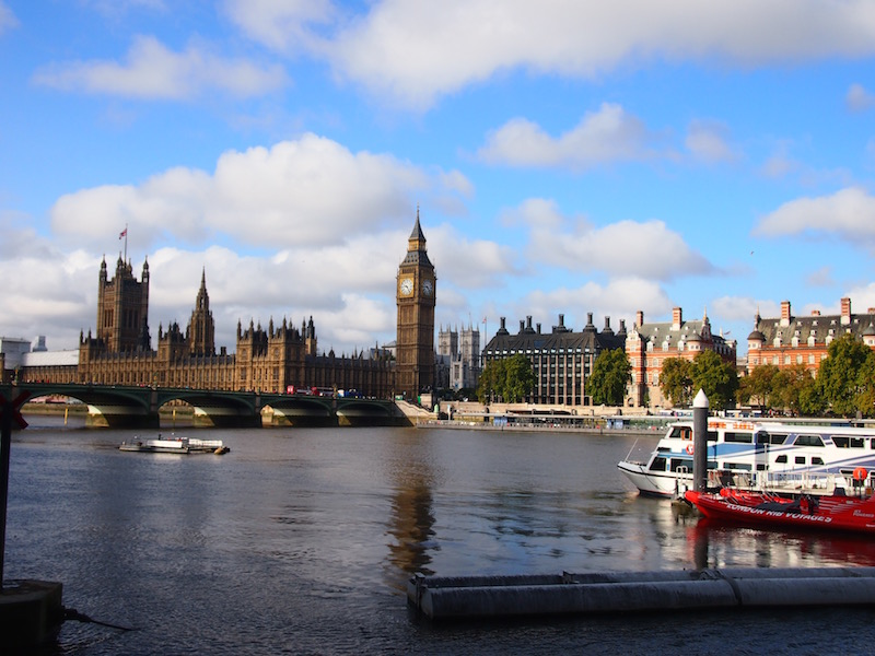 The Westminster skyline, London's history in stone, towers over the timeless River Thames.