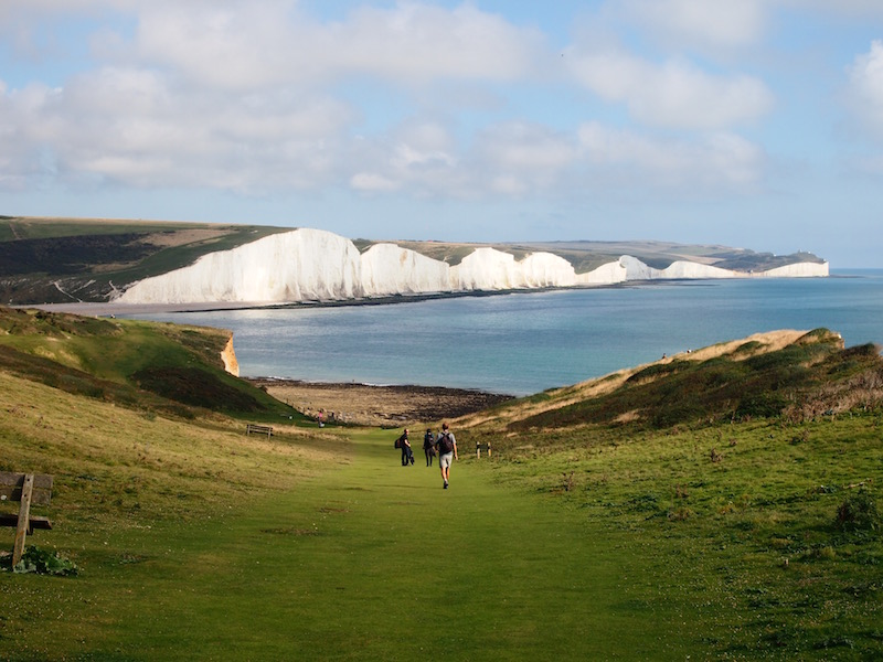 The breathtaking white cliffs in Seaford, East Sussex