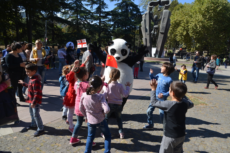 Dancing with Panda, the Chinese mascot