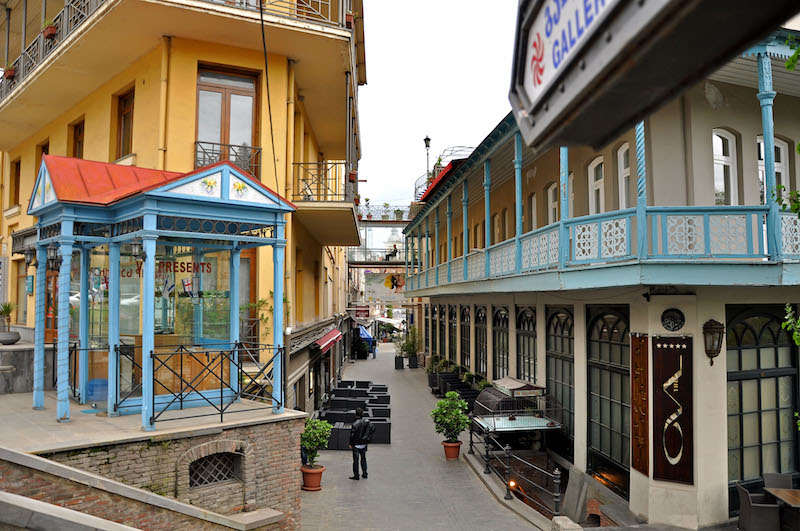 Shardeni street. A small pedestrian street; one of the single centers of the cultural and social life in Tbilisi, Georgia