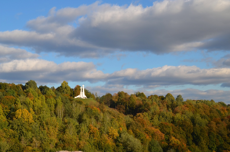 A closer look towards the Hill of Three Crosses, which is also known as Kreivasis (crooked) Hill