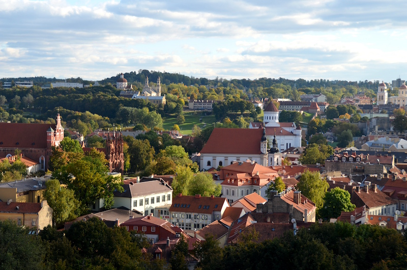 If you are a fan of red-coloured roofs and cute old churches, make sure you book a trip to the Lithuanian capital