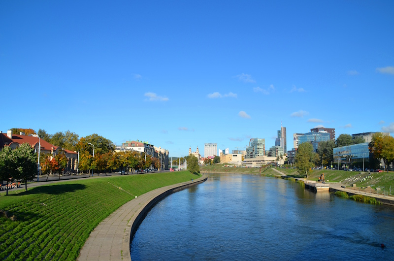 A look at the new part of Vilnius on a bright autumn day