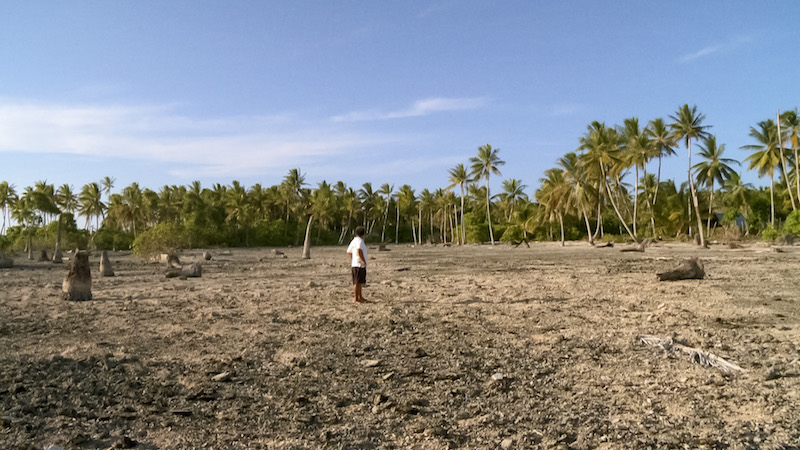 Tuvalu's tiny inland is susceptible to heavy flooding and barren droughts given inconsistent rain cycles
